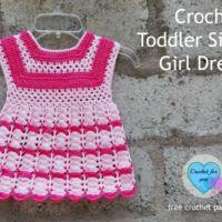 Crochet Toddler Size Girl Dress - free pattern