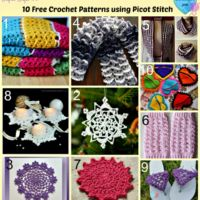10 Free Crochet Patterns using Picot Stitch