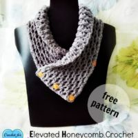 Elevated Honeycomb Crochet  (EHC Neckwarmer)