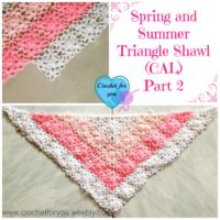Part 2: Spring and Summer Triangle Shawl (CAL) 2015
