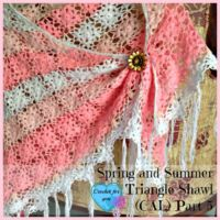 Part 5: Spring and Summer Triangle Shawl (CAL) 2015 final part