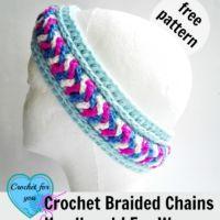 Crochet Braided Chains HeadbandEar Warmer - free pattern