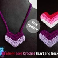 Gradient Love Crochet Heart and Necklace - free pattern