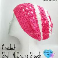 Crochet Shell N Chains Slouch – free pattern