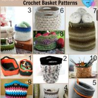 10 free Crochet Basket Patterns