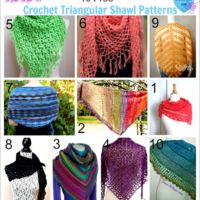10 Free Crochet Triangular Shawl Patterns
