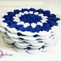 Nil Mal Crochet coaster - free pattern
