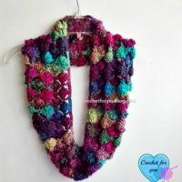 Crochet Shell N Picots Cowl - free pattern