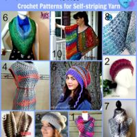 10 Free Crochet Patterns for Self-striping Yarn