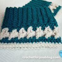 Crochet Crystal Drops Boot Cuffs Free Pattern