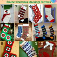 10 Free Crochet Christmas Stockings Patterns